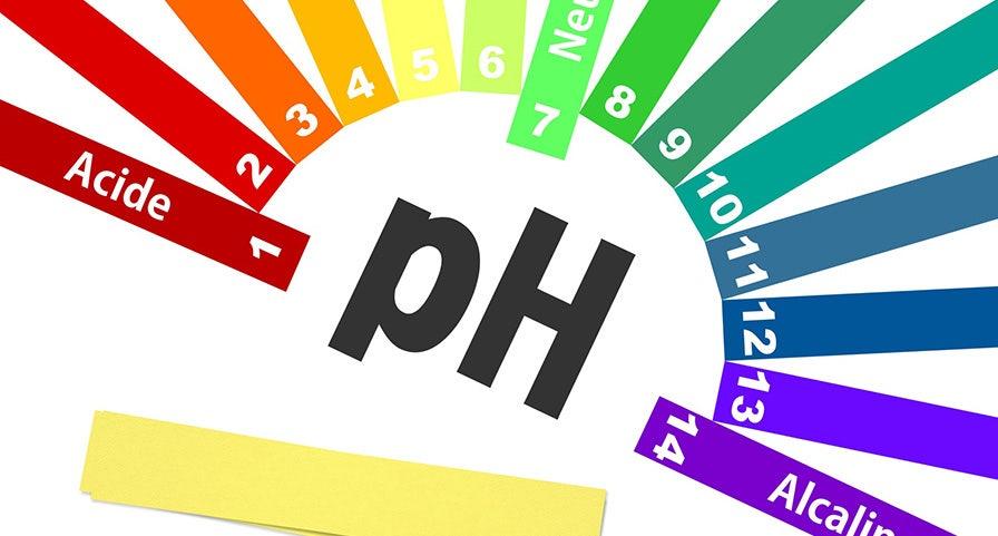 Graphe du PH d'une solution de 1 à 14