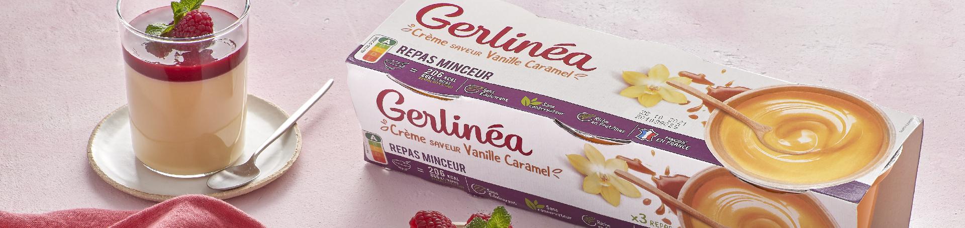verrine panna cotta à la crème vanille gerlinea et aux framboises