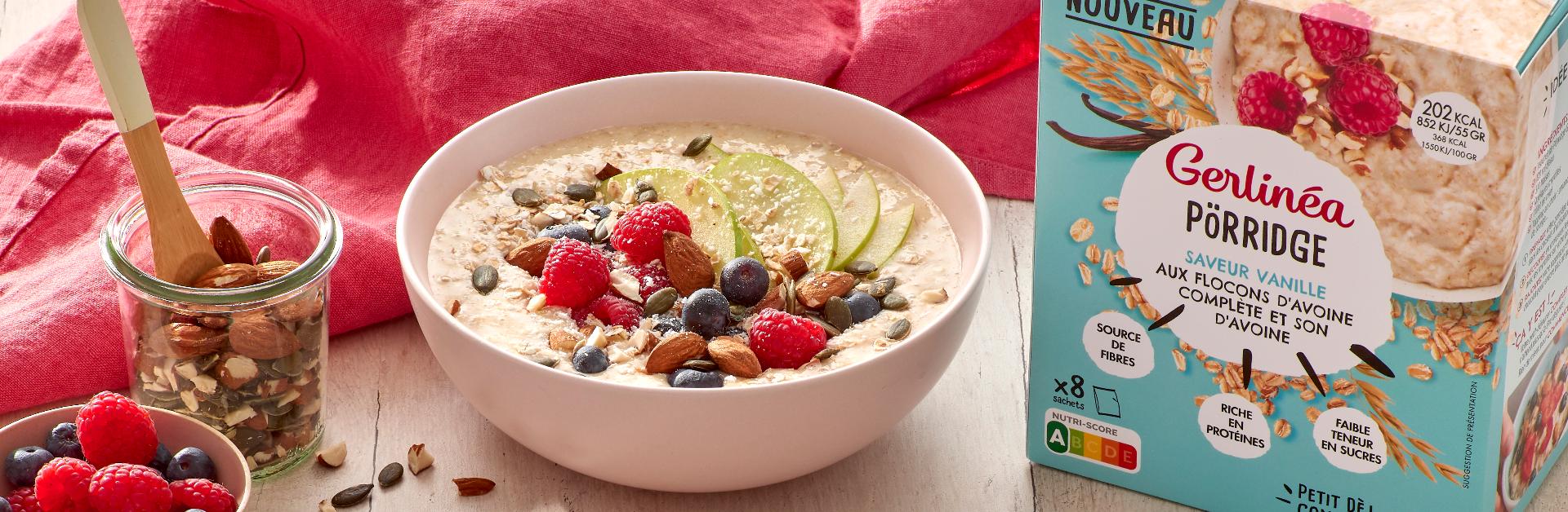 Porridge aux petits fruits rouges