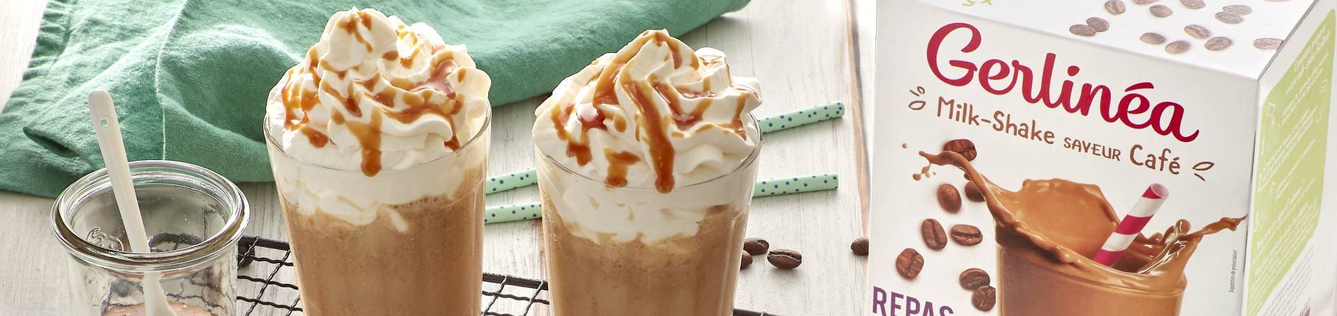 café frappé avec milk-shake café gerlinea