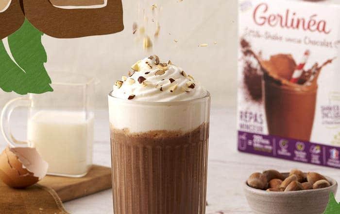 Chocolat liégeois avec milk-shake Gerlinéa