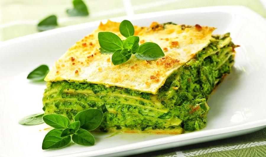lasagnes aux légumes verts