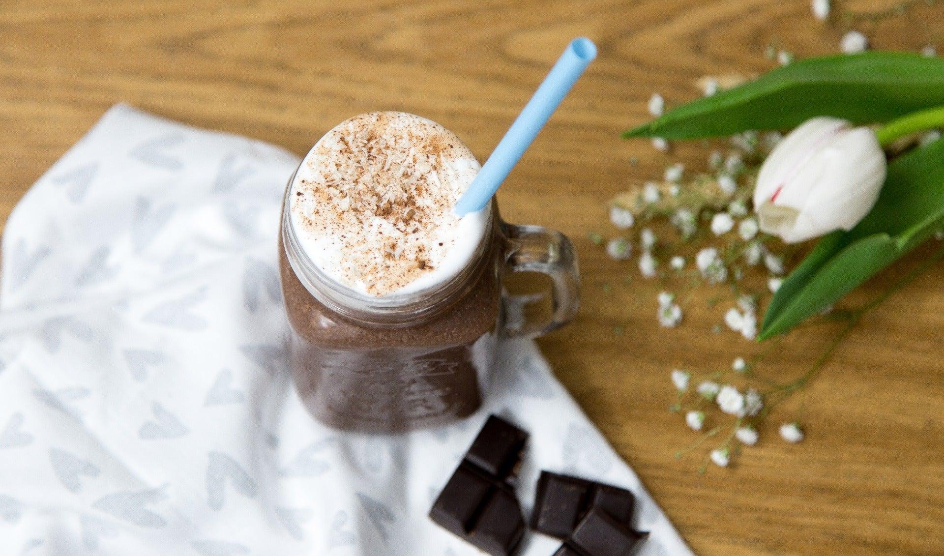 Verrine chocolat liégois et chantilly noix de coco