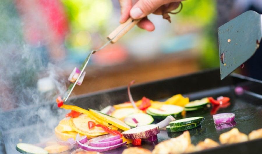 plancha legumes grilles viande